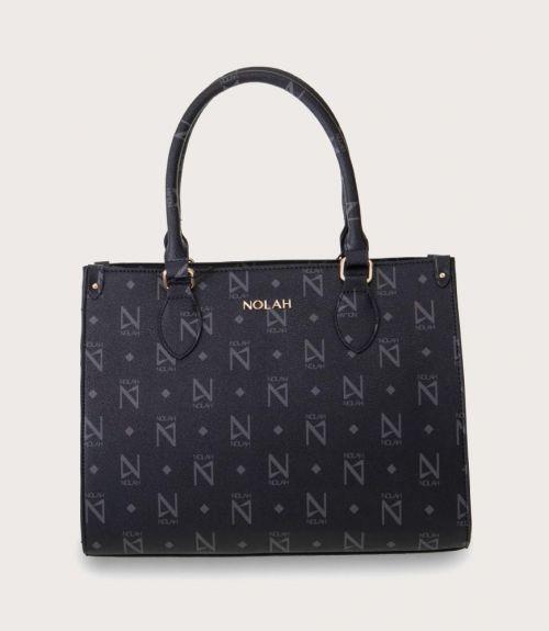 Eliza τσάντα χειρός με τύπωμα - Μαύρο