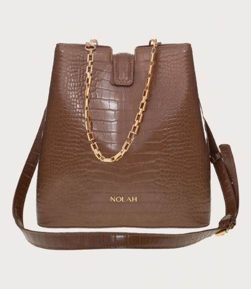 Aliya τσάντα κροκό - Καφέ