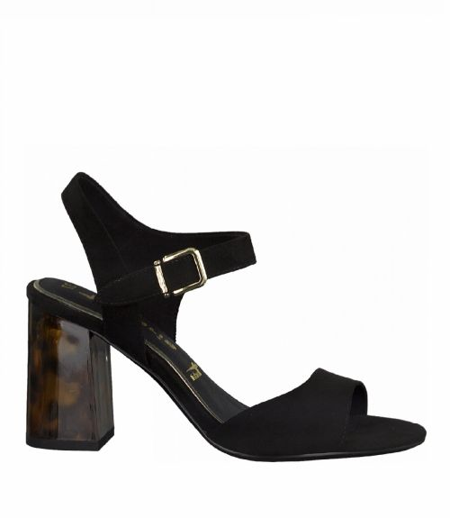 Tamaris πέδιλα με ψηλό τακούνι - Μαύρο