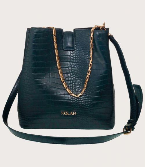 Aliya τσάντα κροκό - Πράσινο