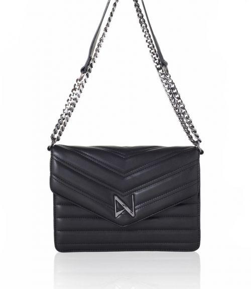 Chiara τσάντα με αλυσίδα - Μαύρο